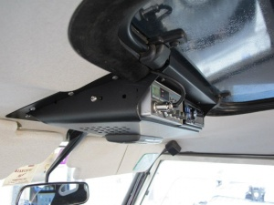 roof console with sun roof for radio and cb defender roof