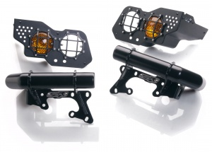 COR4  bumperett kit double headlights nas def 90 cover grid +spotlight new