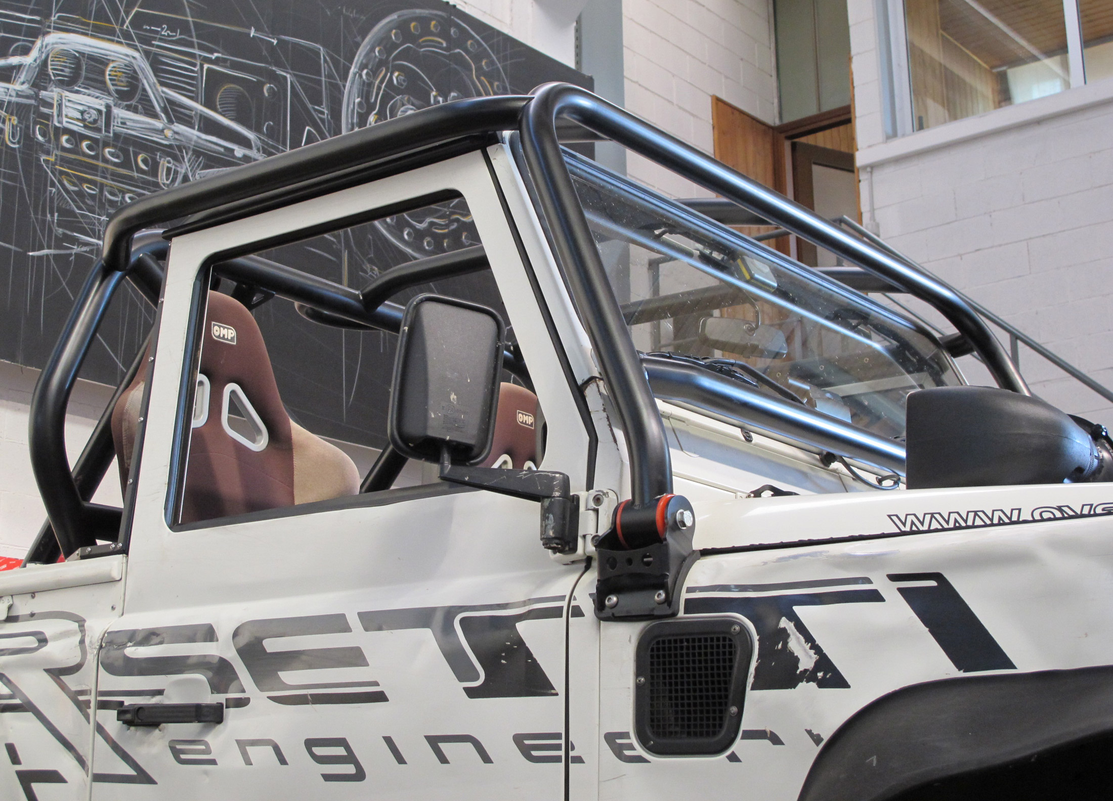 Cor4 Roll Cage Defender 90 Pick Up Lrs Offroad